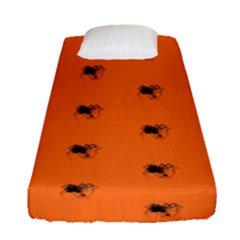 Funny Halloween   Spider Pattern Fitted Sheet (Single Size)