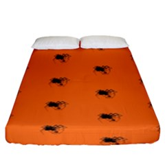 Funny Halloween   Spider Pattern Fitted Sheet (King Size)