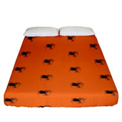 Funny Halloween   Spider Pattern Fitted Sheet (California King Size)