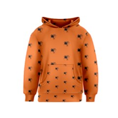 Funny Halloween   Spider Pattern Kids  Pullover Hoodie