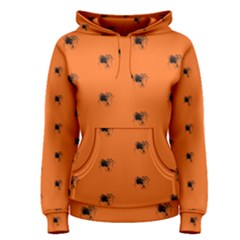 Funny Halloween   Spider Pattern Women s Pullover Hoodie