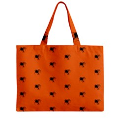 Funny Halloween   Spider Pattern Zipper Mini Tote Bag