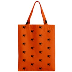 Funny Halloween   Spider Pattern Zipper Classic Tote Bag