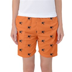 Funny Halloween   Spider Pattern Women s Basketball Shorts