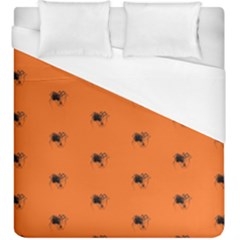 Funny Halloween   Spider Pattern Duvet Cover (King Size)