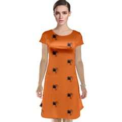 Funny Halloween   Spider Pattern Cap Sleeve Nightdress