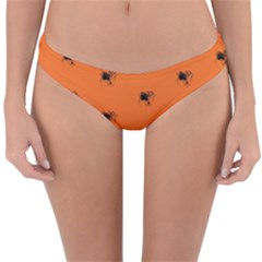 Funny Halloween   Spider Pattern Reversible Hipster Bikini Bottoms