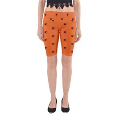 Funny Halloween   Spider Pattern Yoga Cropped Leggings