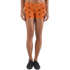 Funny Halloween   Spider Pattern Yoga Shorts
