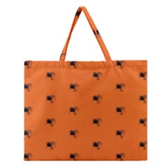 Funny Halloween   Spider Pattern Zipper Large Tote Bag