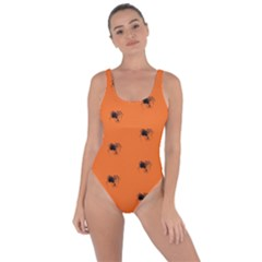 Funny Halloween   Spider Pattern Bring Sexy Back Swimsuit