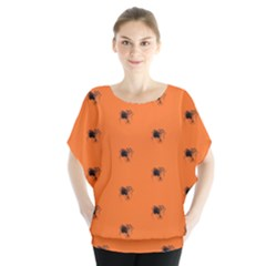 Funny Halloween   Spider Pattern Blouse