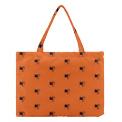 Funny Halloween   Spider Pattern Medium Tote Bag