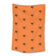 Funny Halloween   Spider Pattern Small Tapestry