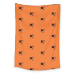 Funny Halloween   Spider Pattern Large Tapestry