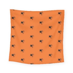 Funny Halloween   Spider Pattern Square Tapestry (Small)