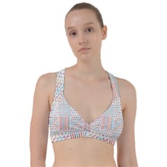 Simple Saturated Pattern Sweetheart Sports Bra by linceazul