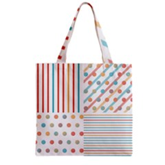 Simple Saturated Pattern Grocery Tote Bag by linceazul