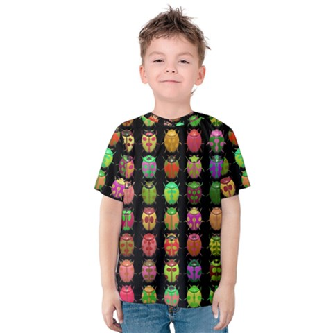 Beetles Insects Bugs Kids  Cotton Tee by BangZart