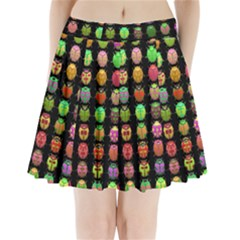 Beetles Insects Bugs Pleated Mini Skirt