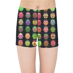 Beetles Insects Bugs Kids Sports Shorts by BangZart