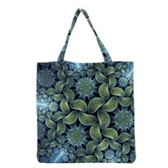 Blue Lotus Grocery Tote Bag by BangZart