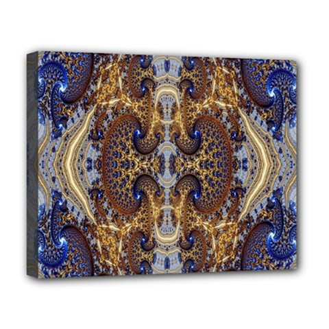 Baroque Fractal Pattern Deluxe Canvas 20  X 16