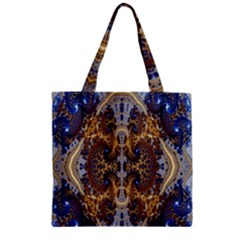 Baroque Fractal Pattern Zipper Grocery Tote Bag by BangZart