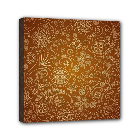 Batik Art Pattern Mini Canvas 6  X 6  by BangZart