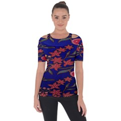 Batik  Fabric Short Sleeve Top