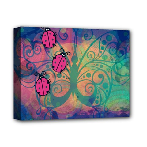 Background Colorful Bugs Deluxe Canvas 14  X 11  by BangZart