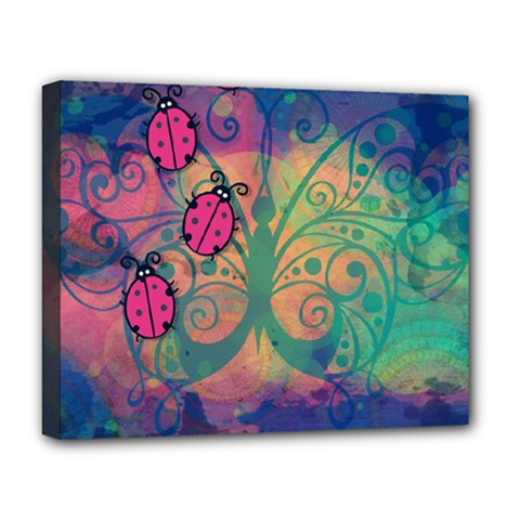 Background Colorful Bugs Deluxe Canvas 20  X 16   by BangZart