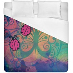 Background Colorful Bugs Duvet Cover (king Size) by BangZart