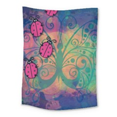 Background Colorful Bugs Medium Tapestry