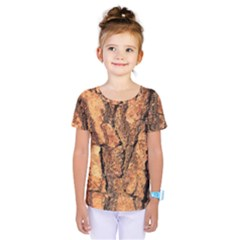 Bark Texture Wood Large Rough Red Wood Outside California Kids  One Piece Tee