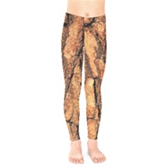 Bark Texture Wood Large Rough Red Wood Outside California Kids  Legging
