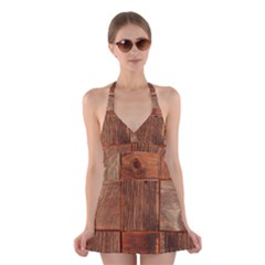 Barnwood Unfinished Halter Swimsuit Dress