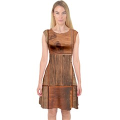 Barnwood Unfinished Capsleeve Midi Dress