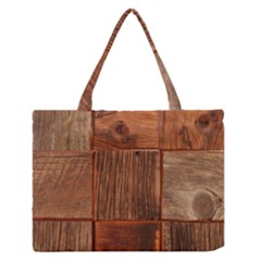 Barnwood Unfinished Medium Zipper Tote Bag