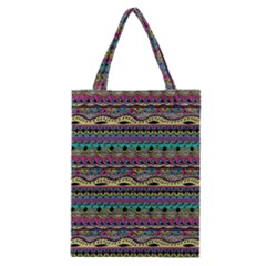 Aztec Pattern Cool Colors Classic Tote Bag by BangZart