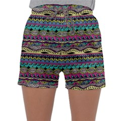 Aztec Pattern Cool Colors Sleepwear Shorts