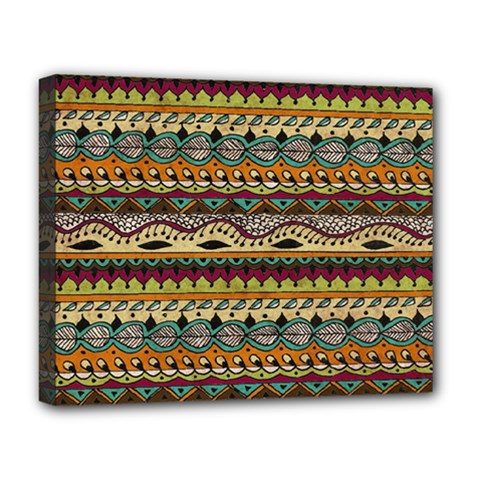 Aztec Pattern Ethnic Deluxe Canvas 20  X 16   by BangZart