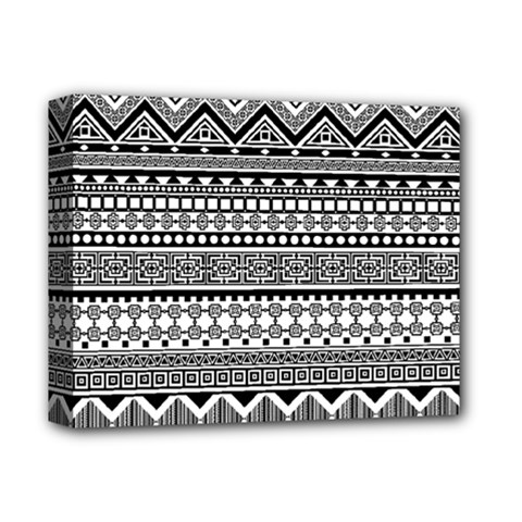Aztec Pattern Design(1) Deluxe Canvas 14  X 11  by BangZart