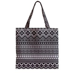 Aztec Pattern Design(1) Zipper Grocery Tote Bag by BangZart