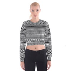 Aztec Pattern Design(1) Cropped Sweatshirt by BangZart