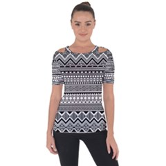 Aztec Pattern Design(1) Short Sleeve Top