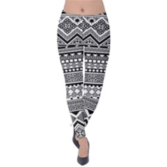 Aztec Pattern Design(1) Velvet Leggings