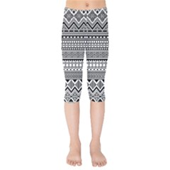 Aztec Pattern Design(1) Kids  Capri Leggings  by BangZart