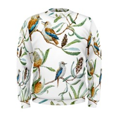 Australian Kookaburra Bird Pattern Men s Sweatshirt