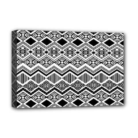 Aztec Design  Pattern Deluxe Canvas 18  X 12   by BangZart